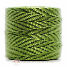 77 Yds. Super-Lon Cord #18 Avocado Green Beading Crafting Stringing Crochet