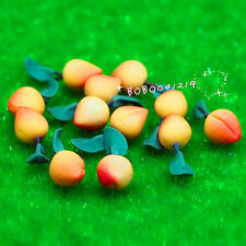 Dollhouse Miniature kitchen Food 1:12 Clay Fruit 12 pcs of peaches NT7891