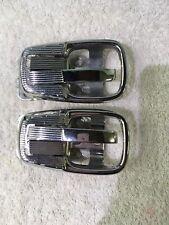 VW T3 & T34 Razor Edge Karmann Ghia Chrome Locking Inner Door Release Handles.