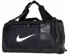 Nike Duffle Sports Team Gym Bag Holdall Travel Kit Bags Small Medium Black