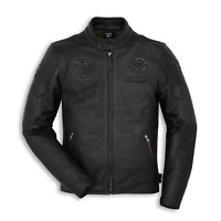 New Spidi Ducati Heritage C1 Leather Jacket Men's EU 54 Black #981041554