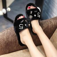 Fur Slippers Design Women Luxury Fluffy Flat Slider Shoes Sliders Sandals Ladies