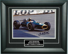 Jack Brabham Signed 8X12 Inches Brabham Color Photo Frame
