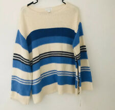 Charter Club Womens Long Sleeve Knit Sweater Side Buttons Size M Medium NWT ✨