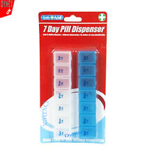7 Day Pill Dispenser Box AM & PM Tablet Medication Organiser Boxes Day & Night