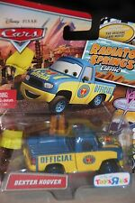 """DISNEY PIXAR CARS """"DEXTER HOOVER WITH YELLOW FLAG""""  NEW IN PACKAGE, SHIP WW"""