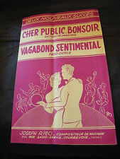 Partition Dear public bonsoir Vagabond Sentimental Joseph Rico Music Sheet