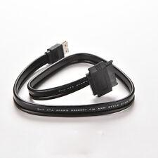 """Power eSATA USB 2.0 5V 12V Combo to 2.5"""" 3.5"""" 22pin SATA HDD Adapter Cable MW"""