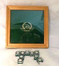 Disney Golf Ball Markers / Pins &  Display Case, Shadow Box, Oak Finish