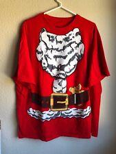 Plus Size - Santa Claus Mens 2X Ugly Christmas Shirt Red