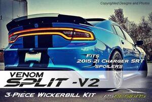 Venom Split V2 2015+ Dodge Charger Rear Wicker Bill wickerbill Spoiler