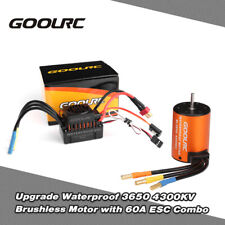 GoolRC Wasserdicht 3650 4300KV Brushless Motor + 60A ESC Set für 1/10 RC Auto DE