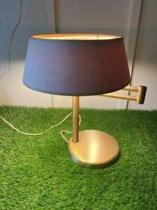 WALTER VON NESSEN Satin Brass Swing Arm Desk Lamp Working Condition!