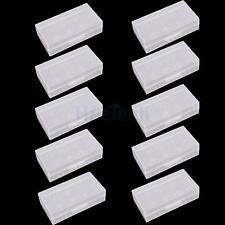 New Lot 10X White Hard Plastic Case Holder Storage Box for 18650 16430 Battery