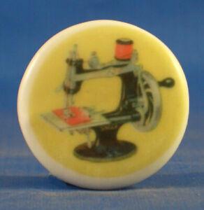 Birchcroft China Button -  Singer Miniature Machine - One Inch Size ( 25 mm )