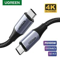Ugreen 5A USB C 3.1 Cable Fast Charge Gen 2 Type C PD Cable 4K Fr Samsung S9 Mac