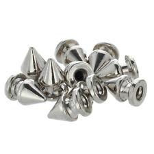10x Kupfer 8*12mm Silber Killernieten Spitz Nieten Punk Ziernieten Schraubn C6T9