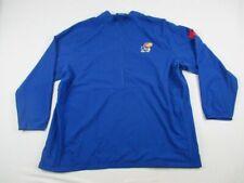 NEW adidas Kansas Jayhawks - Men's Blue Clima-lite Pullover (3XL)