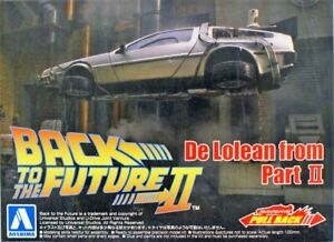 Delorean Auto Ritorno al Futuro II Modellino da Montare Kit in Plastica Aoshima