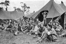 WW2 - Photo - Infirmières américaines au repos dans leur bivouac - Normandie 44