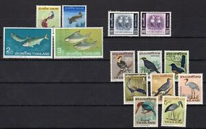 THAILAND , 1967 , TWO better / scarce sets , FISHES / BIRDS , MNH !