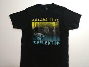 Arcade Fire Men's Medium Black Reflector T-Shirt Band Shirt