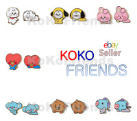 BTS BT21 Official Baby Character Badge 2 EA Set KPOP Item Merch Authentic Goods