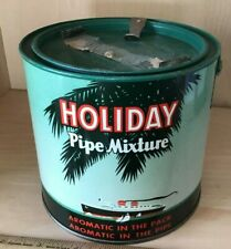 Antique Holiday Pipe Mixture Tobacco Tin