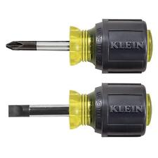 Klein Tools Stubby Mini Screwdriver Set 2 Piece Phillips Cabinet Tip Hand Tool