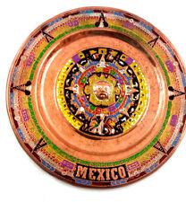 Mexican Real Copper Mini Plate Beautiful 4 Inch Cobre Aztec Caldendar Gift #7