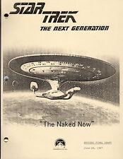 Star Trek Script - TNG - Naked Now - 1987