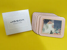 JASON Coaster set Yesterday's Child paintings Acrylic / cork 6 pcs in a box
