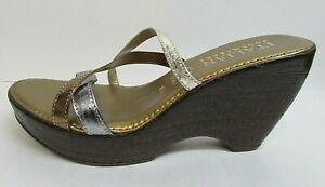 Italian Shoemakers Size 9.5 Wedge Sandals New Womens Shoes