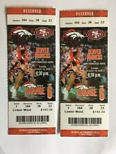 (2) 2014 TICKET Denver Broncos Peyton Manning 509th TD Pass Record
