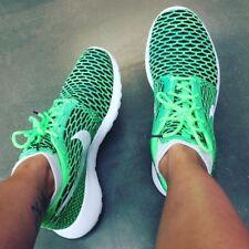 New Nike Roshe One Flyknit Green Black White Lifestyle Trainers Men Women UK 6