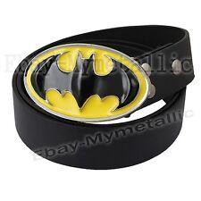 Super Hero Batman Logo Removable Metal Buckle Leather Belt #05