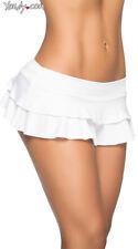 Womens Double Layered Ruffle Skirt, White Mini Skirt