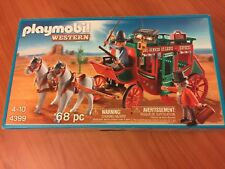 New PLAYMOBIL 4399, WESTERN STAGECOACH EXPRESS Sealed Box Horses, History MISB