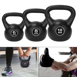 Vinyl Kettlebell Weight Strength Training Kettlebells 6kg To 10kg Core Balance
