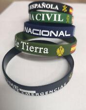 PULSERAS DE SILICONA MILITAR, POLICIA, GUARDIA CIVIL, LEGION