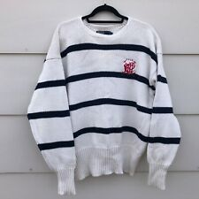 Polo Ralph Lauren Polo Men's Striped Knit Sweater XL Cotton Pullover Crest Logo