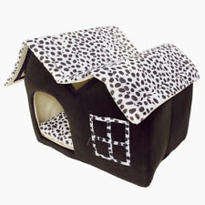 Plush Pet Bed House Small Dog Cat Warm Soft Flannelette Kennel Cushion Villa