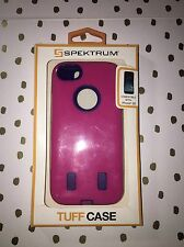 SPEKTRUM NEW iPhone 5 5s 5c SE Pink Purple Shock Absorbing TUFF CASE