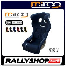 FIA APPROVED Mirco RS1 COLOURS Racing Seat, Head Restraint velour