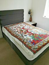 White Tree Of Life Indian Wall Hanging Twin Tapestry Hippie Mandala Bedspread