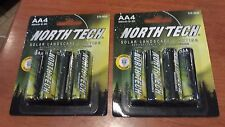 8 AA Rechargeable Battery Solar Landscape Light North Tech - NEW! - lot of 2 pks