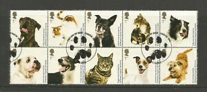 GB 2010 150th Anniversary Of Battersea Dogs Home Block Of 10 Fine Used SG 3036a