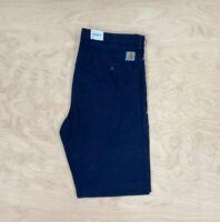 Carhartt Wip Johnson Pant Regular tapered fit Blue Jeans Kingsville Twill 8.4 oz