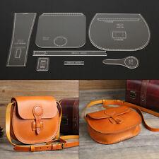 7pcs Leather Craft Acrylic Shoulder Bag Handbag Pattern Stencil Template Kit