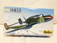 HELLER  1/72 SAAB J 21 Aircraft MODEL KIT